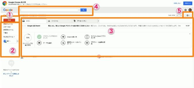 Gmailの登録設定方法